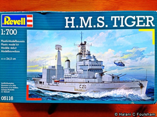 HMS Tiger,a level three model, will be my first attempt constructing a model ship.